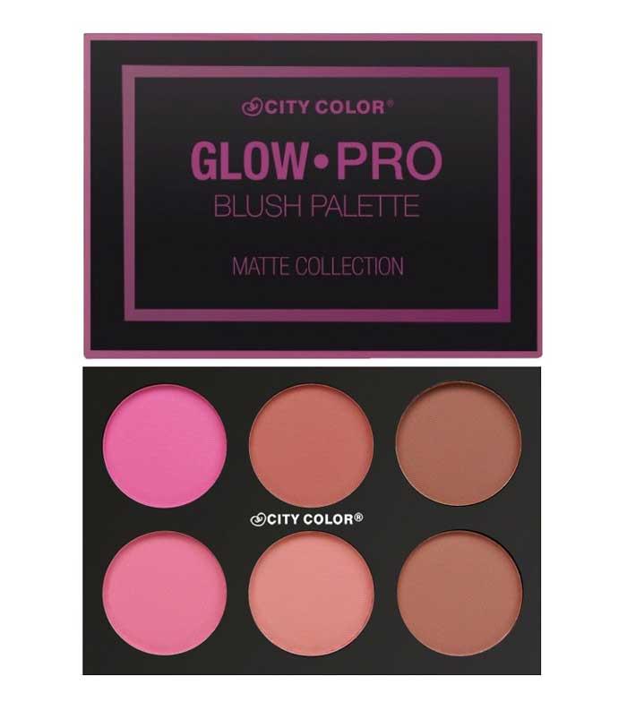 City Color - Glow-Pro Matte Blush palette