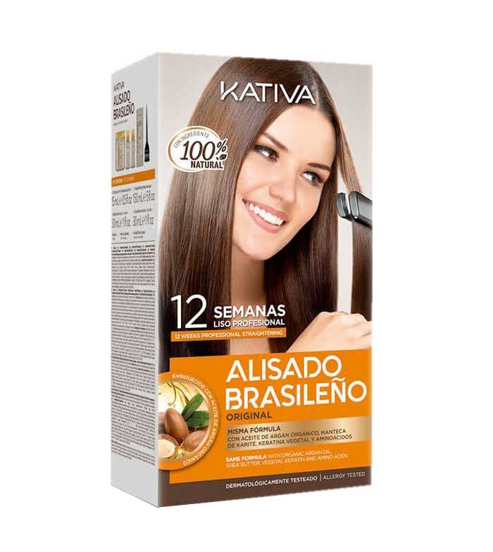 Buy Kativa Brazilian Straightening Kit With Glyoxylic