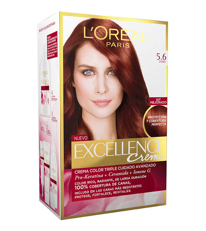 Buy Loreal Paris - Excellence Creme Triple Protection coloring - 5.6 ...