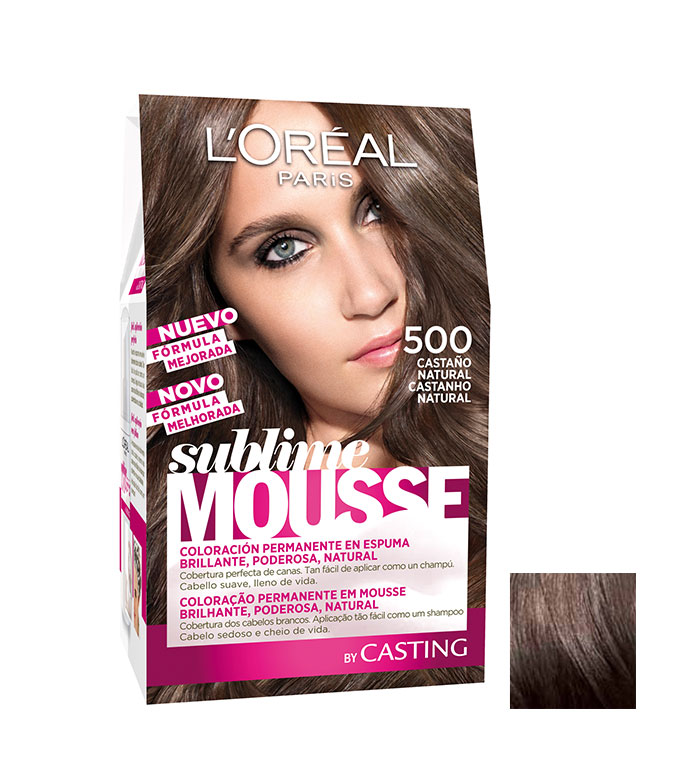 Loreal Paris Permanent Color Sublime Mousse 500 Natural Brown
