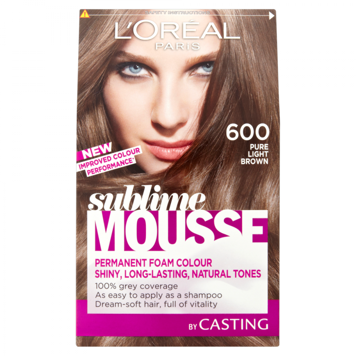 Loreal Paris Permanent Color Sublime Mousse 600 Natural Light Brown