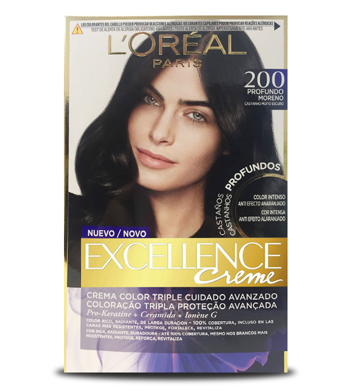 Buy Loreal Paris - Excellence Creme Triple Protection coloring - 200 ...