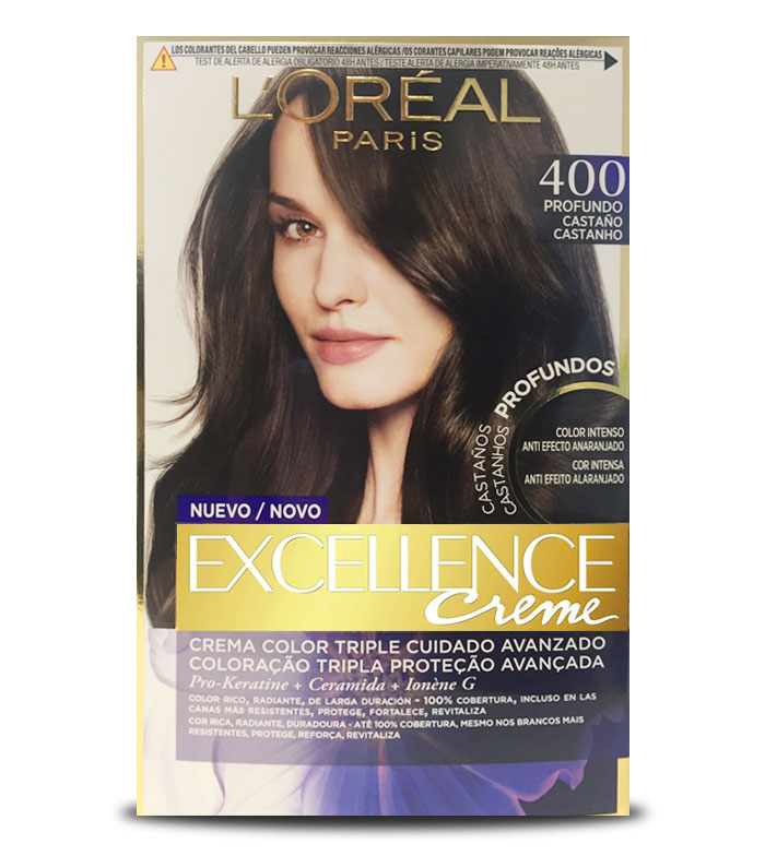 Buy Loreal Paris - Excellence Creme Triple Protection coloring - 400 ...