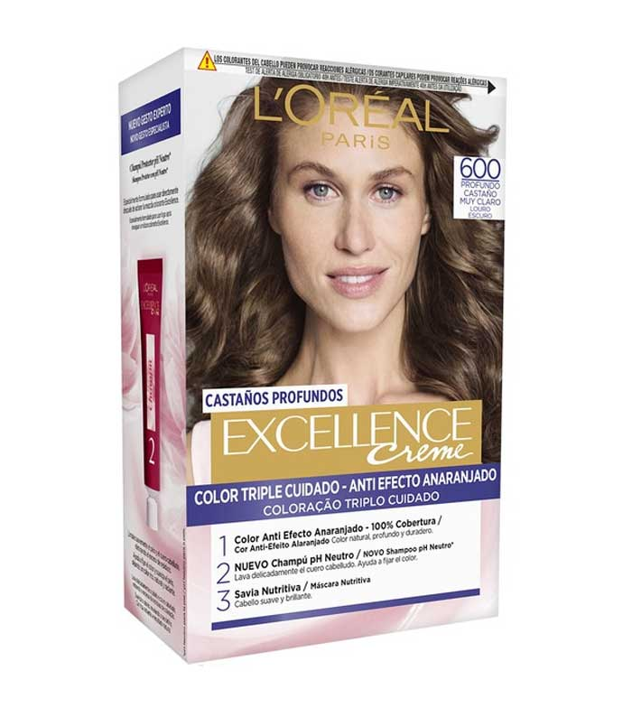 Buy Loreal Paris - Excellence Creme Triple Protection coloring - 600 ...