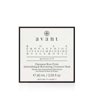 Avant Skincare - Antioxidant and retexture mask with Damascus rose petals