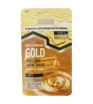 Beauty Formulas - Peel-off mask for deep cleaning - Gold
