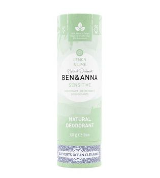 Ben & Anna - Papertube Sensitive Deodorant Stick - Lemon and Lime