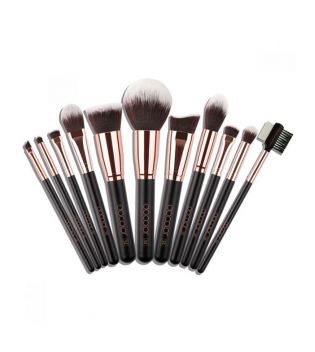 Docolor - Basic Brush Set (11 pieces) - Rose Gold