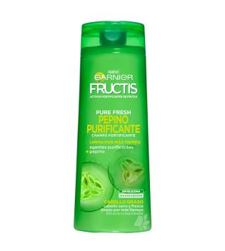 Garnier - Fructis Pure Fresh Shampoo Cucumber cleansing - Hair fat without silicone without parabens