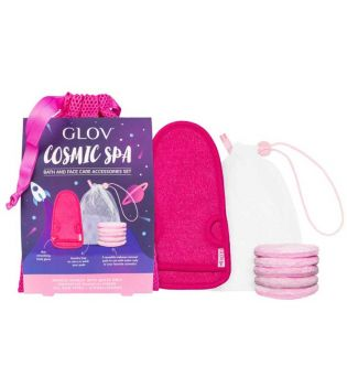 GLOV - Set of make-up removal discs and massage glove Cosmic Spa