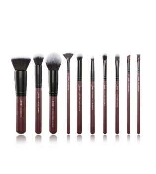Jessup Beauty - 10 pcs Brush + Bag Set - T259: Plum Queen
