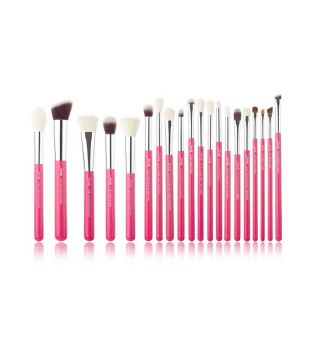Jessup Beauty - 20 pcs Brush Set - T205: Rose Carmin/Silver