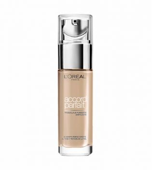 Loreal Paris - Fluid Foundation Accord Parfait - 3D-3W: Golden Beige