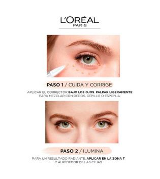 Loreal Paris - Accord Parfait Eye-Cream In A Concealer Concealer - 4-7D: Golden-Sable