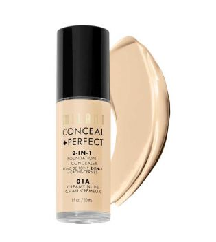 Milani - Conceal+Perfect 2-in-1 Foundation - 01A: Creamy Nude