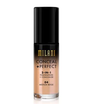 Milani - Conceal+Perfect 2-in-1 Foundation - 04: Medium Beige