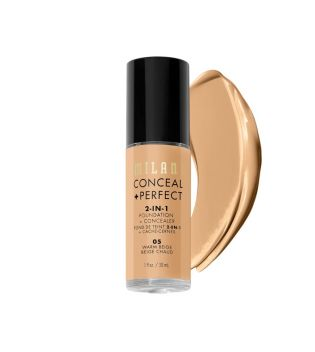 Milani - Conceal+Perfect 2-in-1 Foundation - 05: Warm Beige