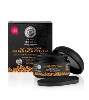 Natura Siberica - Northern soap for deep facial cleansing - Activated charcoal