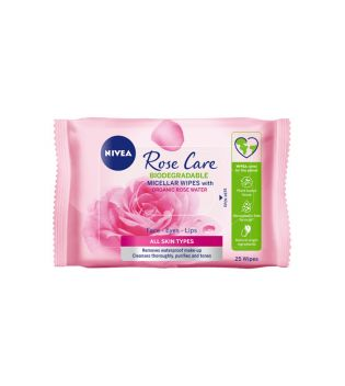 Nivea - MicellAIR 25uts make-up remover wipes - Rose water