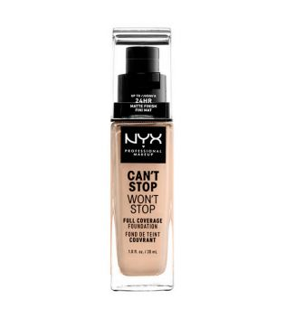 Nyx Professional Makeup - Can't Stop won't Stop foundation - CSWSF06.5: Nude