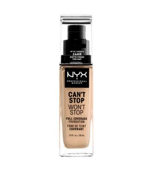 Nyx Professional Makeup - Can't Stop won't Stop foundation - CSWSF07: Buff