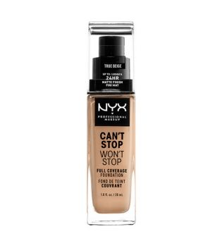 Nyx Professional Makeup - Can't Stop won't Stop foundation - CSWSF08: True beige