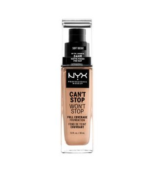 Nyx Professional Makeup - Can't Stop won't Stop foundation - CSWSF7.5: Soft beige