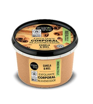 Organic Shop - Body scrub - Organic Cinnamon and Honey