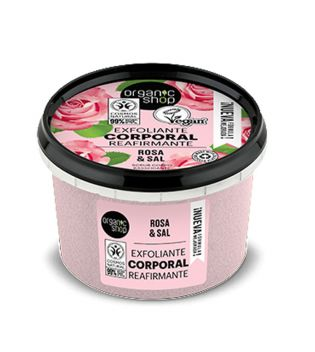 Organic Shop - Body scrub - Organic rose and salt