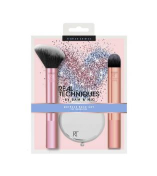 Real Techniques - Skin Perfecting Brush set + mirror