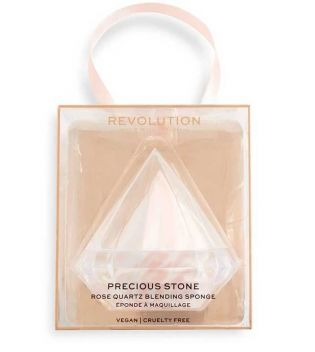 Revolution - *Precious Stone* - Rose Quarz Makeup Sponge + case