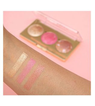Revolution Pro - Highlighter and blush palette Blush and Glow - Rose Glow