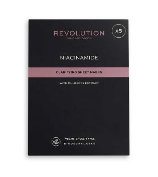 Revolution Skincare - Pack of 5 Brightening Masks with Niacinamide