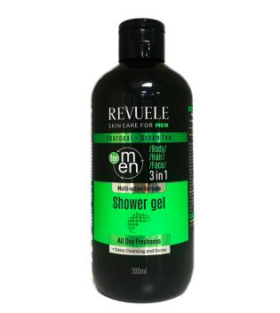 Revuele - 3 in 1 Shower Gel Charcoal and Green Tea