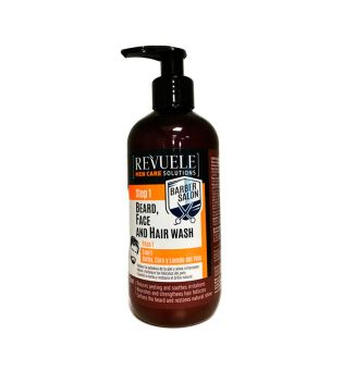 Revuele - Cleansing Gel 3 in 1 Beard, Face and Hair Barber Salon