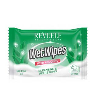 Revuele - Alcohol Cleaning Wipes - Tea Tree Oil