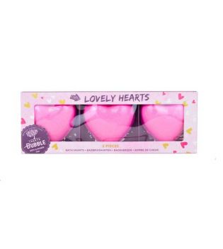 Treets - Gift set 3 Heart bath bombs