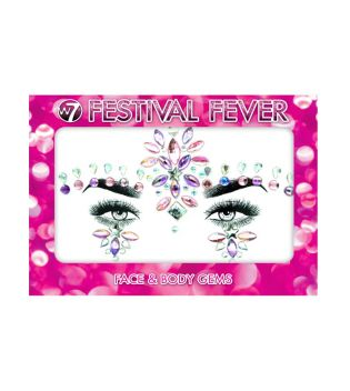 W7 - Festival Fever Face and body Stickers - Party Princess