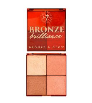W7 - Highlighter and Bronzer Palette Bronze Brilliance - Medium/Dark