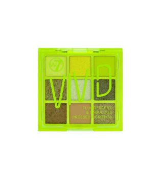 W7 - Vivid Pressed pigments palette - Glowin' Green
