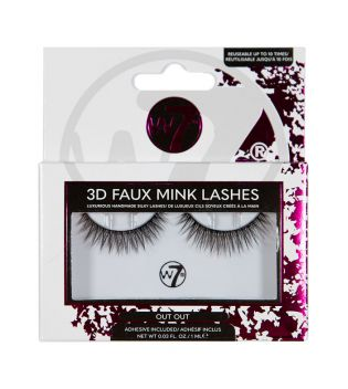 W7 - False eyelashes 3D Faux Mink Lashes - Out Out